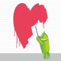 Android tag coeur